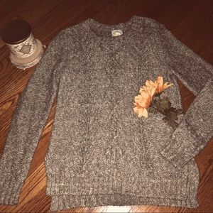 NWOT Brown & White Sweater